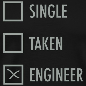 Single Taken Engineer T-Shirts - Men's Premium T-Shirt