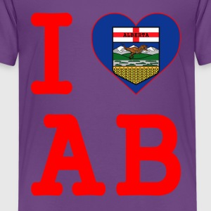 I HEART LOVE ALBERTA - Kids' Premium T-Shirt