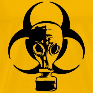 biohazard logo sign symbol toxic virus biological  T-Shirts - Men's Premium T-Shirt