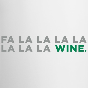 Fa La La Wine Christmas! - Coffee Mug - Contrast Coffee Mug