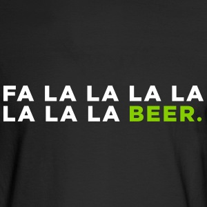 Funny Beer Christmas Song - Men's Long Sleeve T-Shirt