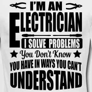 I'm an electrician. I solve your problems Long Sleeve Shirts - Men's Long Sleeve T-Shirt by Next Level