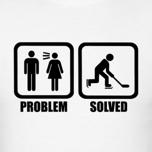 Funny Ice Hockey Problem Solved T Shirt - Men's T-Shirt