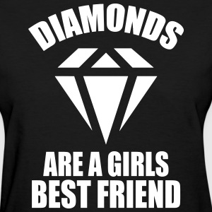 Diamonds Are A Girls Best Friend Women's T-Shirts - Women's T-Shirt