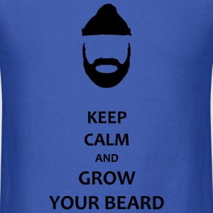 grow your beard - Men's T-Shirt