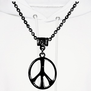 peace and love chain - Men's Hoodie