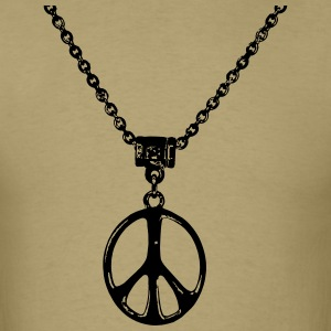 peace and love chain - Men's T-Shirt