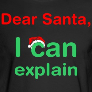 Dear Santa I Can Explain Christmas - Men's Long Sleeve T-Shirt