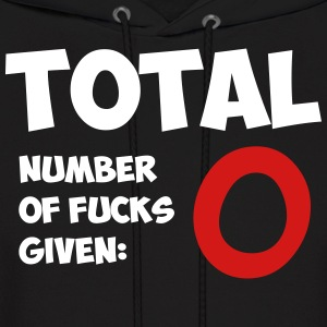 Total number of fucks given - Men's Hoodie