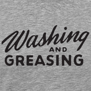 Washing and Greasing Ash Grey T-shirt - Men's Premium T-Shirt