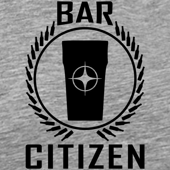 Bar Citizen T-Shirt (Black Logo)