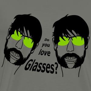 Do you love my Glasses by Claudia-Moda T-shirts - T-shirt premium pour hommes