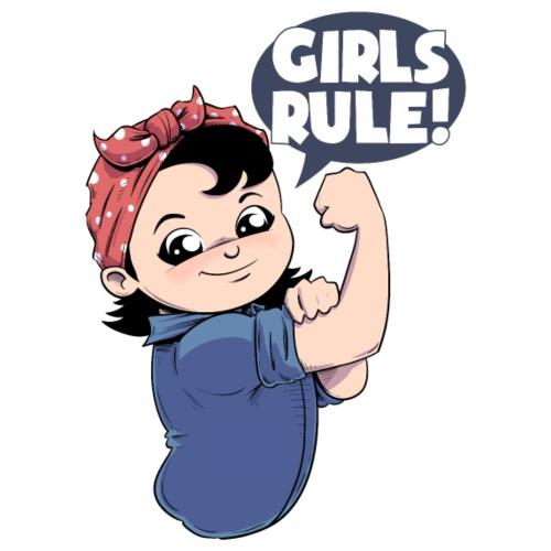 Girls Rule! Riveting Press Mascot