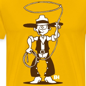 Cowboy with a lasso T-Shirts - Men's Premium T-Shirt