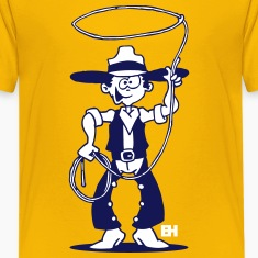 Cowboy with a lasso Kids' Shirts
