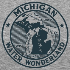 Michigan Water Wonderland Ash T-Shirt by Verbeeish