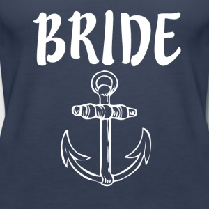 Bride with Anchor - Women's Premium Tank Top