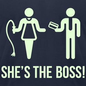 She's The Boss! (Wife & Husband) T-Shirts - Men's T-Shirt by American Apparel