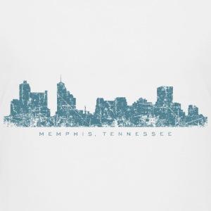 Memphis, Tennessee Skyline Vintage Blue