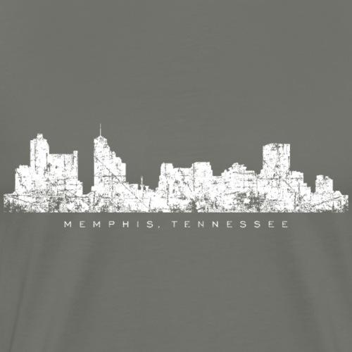 Memphis, Tennessee Skyline Vintage White