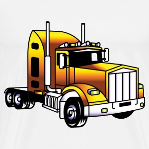yellow heavy truck - Men's Premium T-Shirt