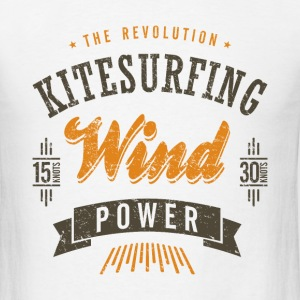 Kitesurfing Wind Power Colors - Men's T-Shirt