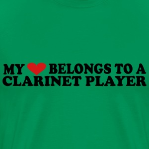 My Heart Belomgs to a Clarinet Player - Men's Premium T-Shirt
