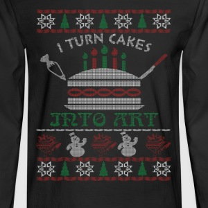 I turn cakes into art - Christmas - Men's Long Sleeve T-Shirt