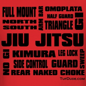 Men's Jiu Jitsu Terminology NEW bw TD  - Men's T-Shirt