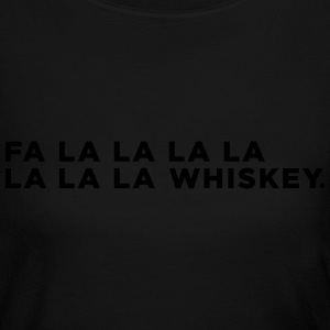 Whiskey Funny Christmas Long Sleeve Shirts - Women's Long Sleeve Jersey T-Shirt