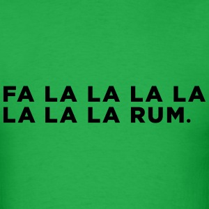 Rum Funny Christmas Song - Men's T-Shirt
