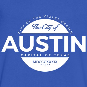 Austin: Violet Crown V-Neck - Men's V-Neck T-Shirt by Canvas