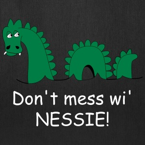 Small tote bag with amusing Loch Ness Monster - Tote Bag