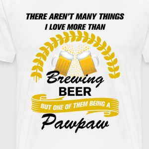 this pawpaw loves brewing beer T-Shirts - Men's Premium T-Shirt