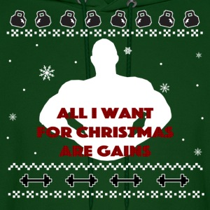 All I Want For Christmas Are Gains Inspiration Hoodies - Men's Hoodie