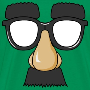 Funny Mask With Glasses - Men's Premium T-Shirt