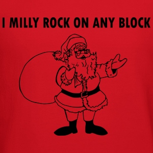 I MILLY ROCK ON ANY BLOCK SANTA CLAUS - Crewneck Sweatshirt