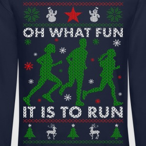 Oh What Fun It Is To Run Long Sleeve Shirts - Crewneck Sweatshirt