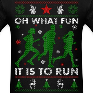 Oh What Fun It Is To Run T-Shirts - Men's T-Shirt