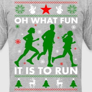 Ugly Christmas Runner T-Shirts - Men's T-Shirt by American Apparel