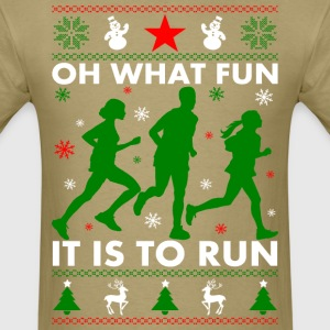 Ugly Christmas Runner T-Shirts - Men's T-Shirt