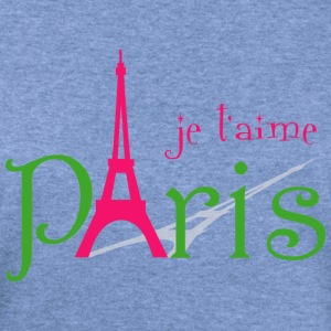 I love Paris Long Sleeve Shirts - Women's Wideneck Sweatshirt