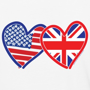 USA Union Jack Flags - Baseball T-Shirt
