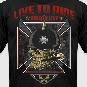 Live To Ride Ride To Live - Men's T-Shirt by American Apparel