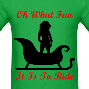 Oh What Fun It Is To Ride - Red - Men's T-Shirt