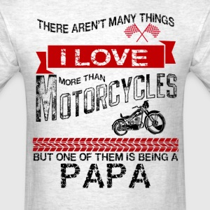 This Papa Loves Motorcycles T-Shirts - Men's T-Shirt