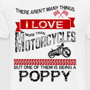 This Poppy Loves Motorcycles T-Shirts - Men's Premium T-Shirt