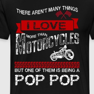 This Pop Pop Loves Motorcycles T-Shirts - Men's Premium T-Shirt