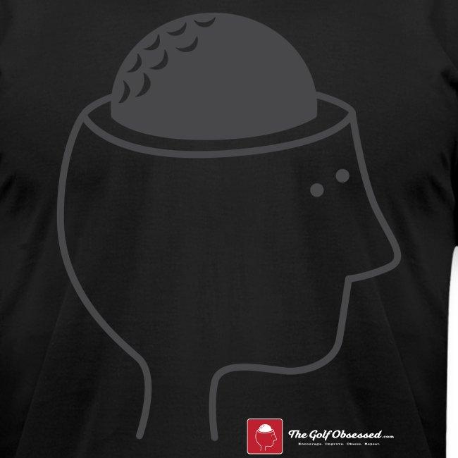 "Black ""Golf Brain"" T-shirt"