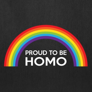 Proud To Be Homo LGBT Bags & backpacks - Tote Bag